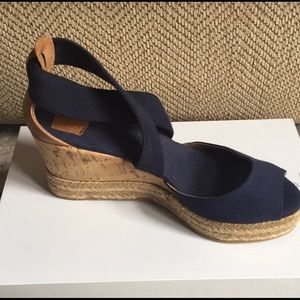 Tory Burch Navy Espadrilles - Well Loved!